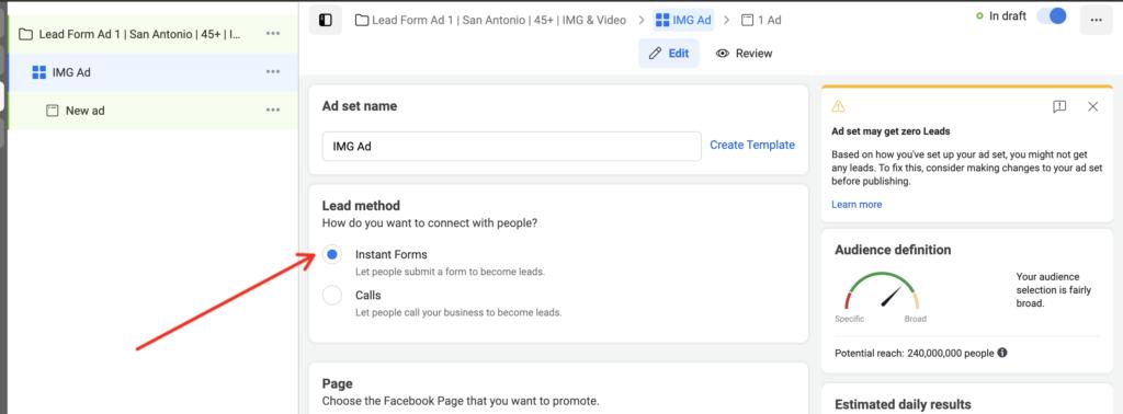 Facebook Ad Lead Method